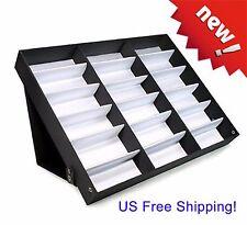 Sunglasses Case Display Rack Holder Stand Organizer Storage 18 Eyewear Tray Box