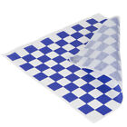 """50 sheets Blue and White Checkered Deli Wrap Paper 12""""x12"""" Wax Paper"""