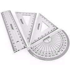 Westcott Petit Transparent Géométrie Set - Carré Set, 15cm règle, Protractor