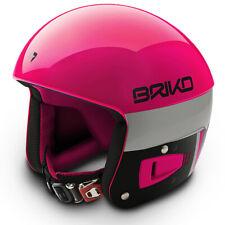 Briko Vulcano FIS Ski Race Helmet - Pink Black, Medium (56cm)