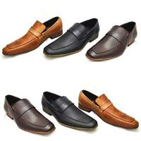 Mens Smart Shoes Wedding Italian Fashion Formal Office Party Casual Slip On Size