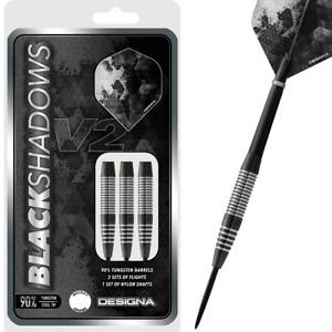Designa Black Shadows V2 Steel Tip 90% Tungsten Darts M3 - 25g