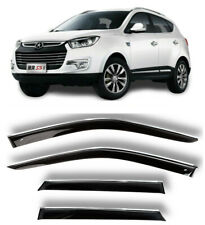 Chrome Trim Window Visors Guard Vent Deflectors For JAC S5 (Eagle) l 5d 2013-