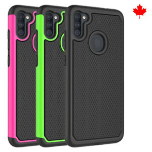 Fits Samsung Galaxy A11 Case Shockproof Rugged Rubber Hybrid Impact Phone Cover