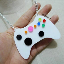 Xbox 360 Controller Video Game Large Acrylic Necklace~1980~80s~Girl Gamer~Rare