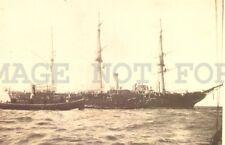 1902 Nymphe class sloops Uk Battleship Military Montevideo photo postcard