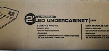 "UPGRADED Lithonia LED Dimmable Linkable Undercabinet Light 24"" 740 Lumen Swivel"