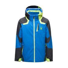 Spyder Boys Leader Jacket Kinder Skijacke blau
