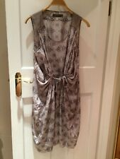 MINT VELVET 100% Silk Dress UK 12, Good Condition
