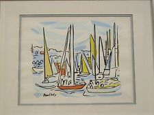 Raoul Dufy Serigraph titled Boats in Harbor