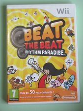JEU NINTENDO WII & WII U @@ BEAT THE BEAT RHYTHM PARADISE @@ 100% COMPLET
