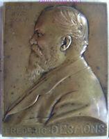 MED9142 - MEDAILLE Sénateur Frédéric Desmons G∴O∴D∴F∴ 1909 par PRUD'HOMME
