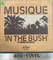 """MUSIQUE ~ In The Bush ~ LTD ED 12"""" Single PS Ex Con Rare"""