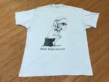 Xl - Vtg 1991 Ralph Waldo Emerson 90s Single Stitch Distressed T-shirt Usa