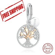 39af26592 AUTHENTIC PANDORA CHARM BEAD 925 STERLING Rose Gold Family Tree Silver  Dangle