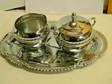 Vintage Irvinware Sugar and Creamer Set w/ Tray Plate 1960/70s