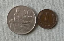 Livonia 50 santimu 1922, 1 santim 1938, XF