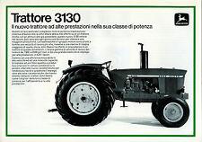 """PUBBLICITA' """" TRATTORE JOHN DEERE 3130 """" Il nuovo trattore ad alte prestazioni"""""""