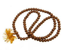 COLLIER MALA TIBETAIN ROSAIRE CHAPELET  EN BOIS IMITATION SANTAL  Ø 9 mm 9746