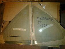 Coppia vetri deflettori Fiat Argenta verde acq frame side window deflector glass