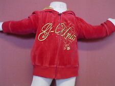 Baby Girl G Unit Size 12 mo Red/Gold Velour LS Zip Up Hoodie EUC