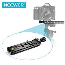 Neewer 140mm Carril Nodal Deslizante Metal Abrazadera De Liberación Rápida