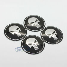 4pcs Fit For Honda Skull Wheel Center Hub Cap Emblem Badge decal Sticker 56.5MM