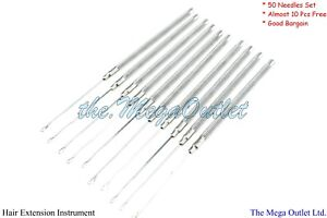 Hair Extensions PULLING NEEDLES Tool For Micro & Silicone Rings with 2mm HOOK
