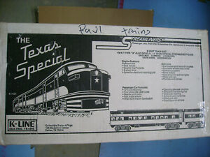 K-LINE O K-1421 THE TEXAS SPECIAL 8 UNIT STREAMLINERS ELECTRIC TRAIN SET NEW IN