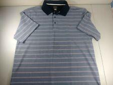 Greg Norman Tasso Elba Polo Shirt Mens XL Blue Gray Play Dry Golf PGA