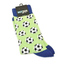 Hot Sox Socks Mens Soccer Balls Blue Apple Green Cotton Blend Size 10-13 Shoes