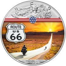USA - 1 Dollar 2020 - Silver Eagle - Route 66 (8.) - 1 Oz Silber ST