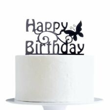 Happy Birthday With Butterfly Cake Topper x1 Baking Decoration Party