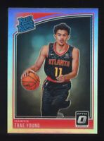 2018-19 Donruss Optic TRAE YOUNG Rookie Card RC PRIZM SILVER HOLO #198 Rated