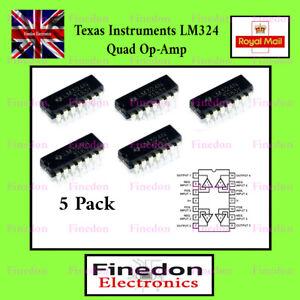 5 x LM324 DIP14 Low power Quad Op-Amp IC LM324N UK Seller