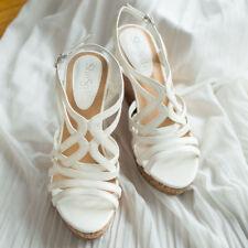 AU Ship Shesole Womens Wedges HEELS Sandals Shoes Gladiator Platform Party Dress Au10 White