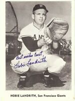 Hobie Landrith Signed Autographed 5X7 Photo 1959 Jay Publishing SF Giants COA