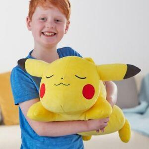 Pokemon Sleeping Pikachu 46cm Soft Plush Plushie Cuddle Teddy Figure Doll Toy