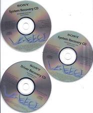 Sony VAIO PCG-GR300K Series System Recovery 5 CD set GENUINE Version GK104.0