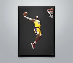 Lebron James Poster Lakers NBA Basketball Sport Wall Art Print Picture 3 Sizes