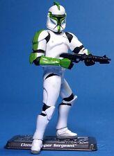 Saga di Guerre Stellari marcisce Loose ULTRA RARA Clone Trooper Sergeant ottime condizioni.C-10+