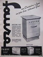 PUBLICITÉ 1955 SAUTER CUISINIERE 4 FEUX AU PRIX D'UN RÉCHAUD FOUR  - ADVERTISING