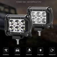 2X 18W LED travail lumière Offroad Spot brouillard voiture camion lampe ATV SUV