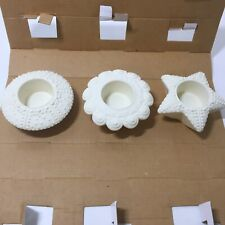 New Listing3 PartyLite Sea Drifters Bisque Tealight Candle Holders P7103