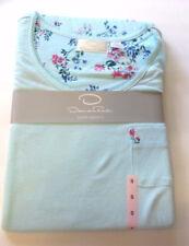 New Short Sleeve Oscar de la Renta Women's Aqua Pajama Set Size Small