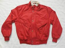 Vintage Members Only by Europe Craft Red Racer Jacket Indie Size 44 Unique Rare