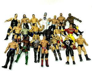 WWE WWF Jakks Pacific Titan Tron Marvel Mattel Wrestling Action Figures Lot of20
