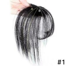 Thin Neat Air Bangs Hair Clip in on Fringe Front Hairpiece bangs wig I5S