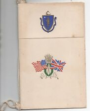 1911 Dinner Menu for St Johns New Brunswick Fusileers from Governor of Mass