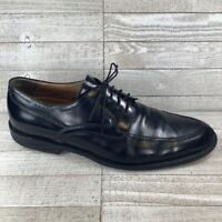 Johnston & Murphy Mens Oxford Dress Shoes Black Lace Up Split Toe Leather 11.5 M